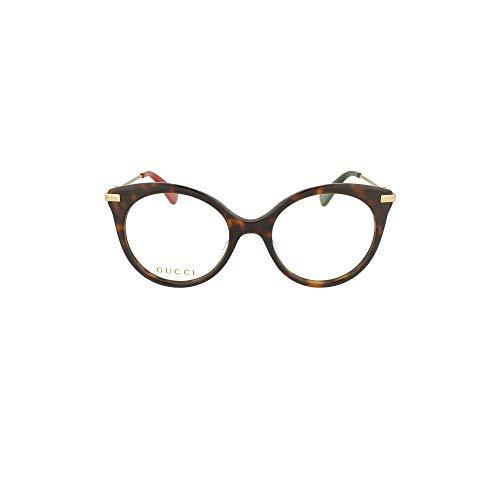 montatura occhiali da vista donna gucci Gucci Occhiali da Vista GG0109O HAVANA GOLD donna