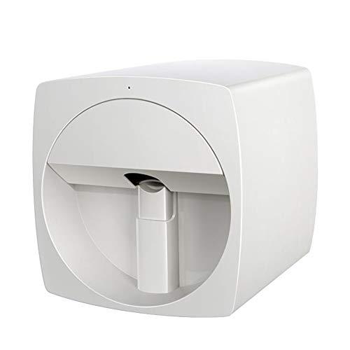 ZXCASD Impresora De Uñas, 3D Máquina De Pintura De Uñas Inteligente Inalámbrica Impresora De Arte De Uñas Móvil Digital DIY 100-240V, Blanco