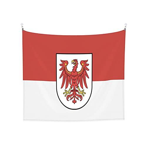 Flagge Brandenburg Tapisserie Wandbehang Tarot Boho Beliebte Mystic Trippy Yoga Hippie Wandteppiche für Wohnzimmer Schlafzimmer Wohnheim Heimdekor Schwarz & Weiß Stranddecke