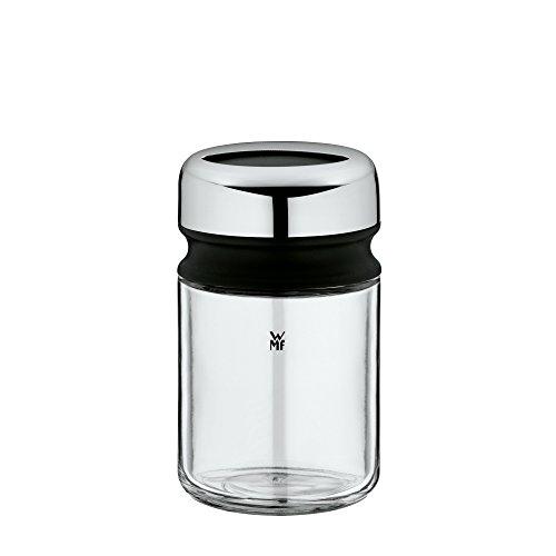 WMF Depot Grobstreuer, 100 ml, mit Aromadeckel, Gewürzglas grobes Streubild, Glas, Cromargan Edelstahl, spülmaschinengeeignet