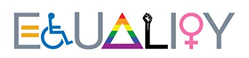 """ORMAT Equality Sticker Pride Stuff Liberal Bumper Stickers Vinyl car Stickers and Decals for Cars Equal Rights Pride Stickers 8"""" x 2"""" Waterproof"""