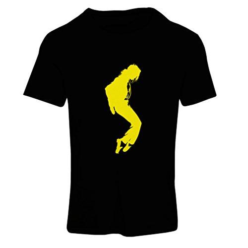 Camiseta Mujer Me Encanta MJ - Ropa de Club de Fans, Ropa de Concierto (Small Negro Amarillo)