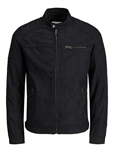 JACK & JONES Herren Lederjacke Faux XLJet Black