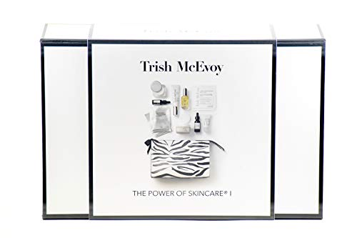 Trish Mcevoy The Power Of Skincare I - serum, eye serum, oil, c cream, exfoliator, triangle mask, gentle wash, weekly peel, cosmetic bag