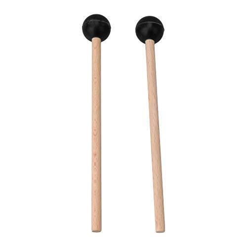 Yibuy 2 mazos de goma negra con cabeza de marimba para instrumentos