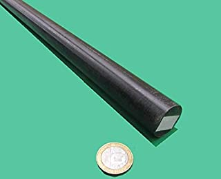 Black Acetal POM Round Rod, Delrin, 1.00