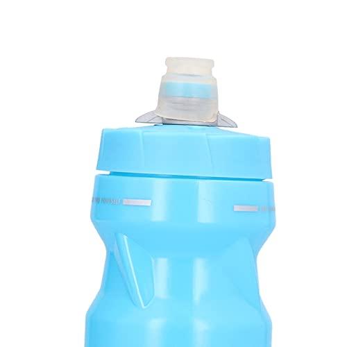 Haowecib Botella de Ciclismo, Botella de Agua para Bicicleta a Prueba de Fugas sin olores peculiares con Botella de Agua para Bicicleta para Deportes al Aire Libre(Blue)