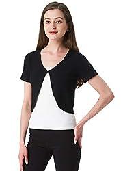 Sofishie Trendy Short Sleeve Shrug Open Cardigan