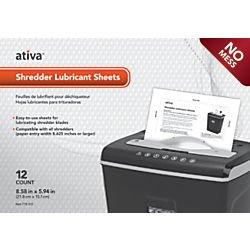 Fantastic Deal! Ativa Shredder Lubricant Sheets, Pack of 12