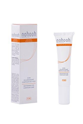 Nohooh blanchissant Crème contour des yeux 15 ml avec Alpha Arbutine et à l'huile d'argan
