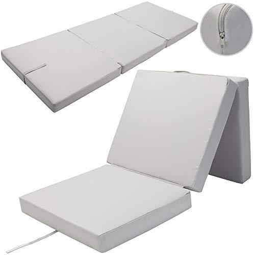 Detex Folding Mattress Futon 190x70x10cm Foldable Portable Guest Bed Travel Z Bed Water-repellent