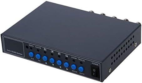 VGA 4CH Color CCTV Security Camera Video Quad Processor Splitter Remote Control product image