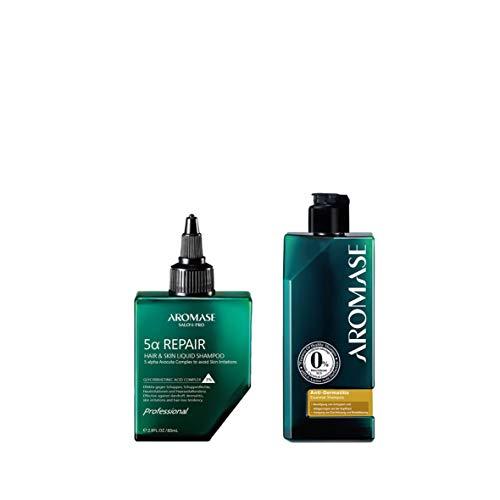 AROMASE Anti-Juckreiz & Dermatitis Set klein - Inkl. Liquid Pre-Shampoo 5a Repair 80 ml & Anti-Juckreiz und -Dermatitis Essential Shampoo 90 ml