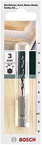 Bosch Home and Garden 2609255147 Hex Shank Wood Drill bit, 3 mm Diameter