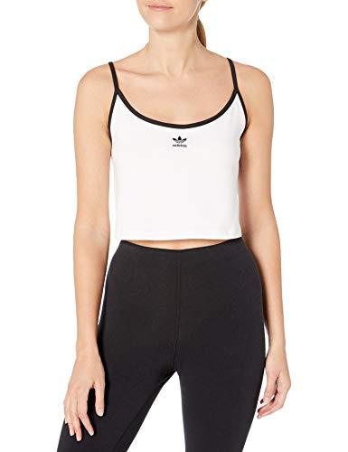 adidas Originals Women's Spaghetti Strap Top, White/Black, L
