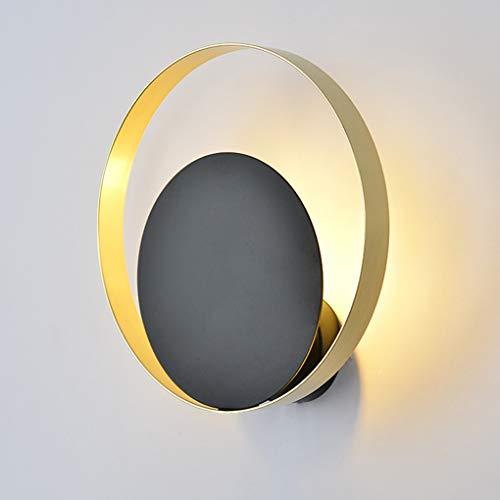 Moderne binnenlamp, wandlamp, goud en zwart, fitting G9, wandlampen, metaal, wandlamp, rond, industrieel design, voor hal, hal, hal, verlichting Ø25 cm