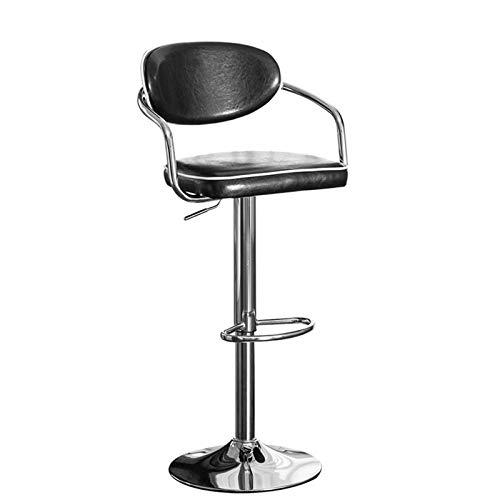 SQQSLZY Taburetes de Barras, taburetes de Barra de Hierro Forjado, taburetes de Bar, sillones de Espalda de elevación giratoria, sillas de recreo, sillones de Caja Fuerte