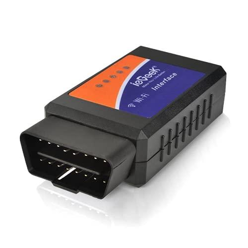 ieGeek WiFi Mini Adaptateur sans-Fil Diagnostique Scanner Code de Défaut, Connexion sur Téléphone (iPhone et Android) - 3000 Code Base de Données, Support Interface de Diagnostic pour Les Véhicules