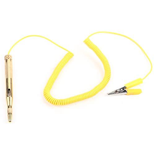 Gorgeri - Comprobador de circuito para coche DC 6 V 12 V 24 V bombilla voltaje lápiz de prueba amarillo