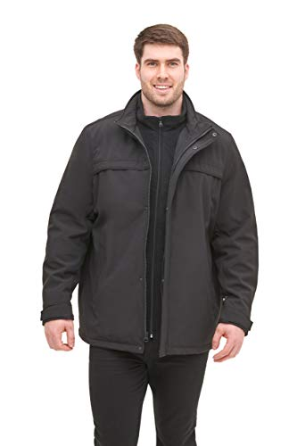 Dockers Men's Soft Shell Jacket (Regular and Big and Tall Sizes), Black, L