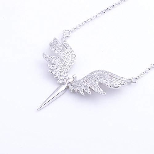 CTDMMJ Pekurr 925 Sterling Silber CZ Winkel Flügel Phoenix Eagle Vogel Halsketten Anhänger Für Frauen Silber Kette Schmuck Geschenke
