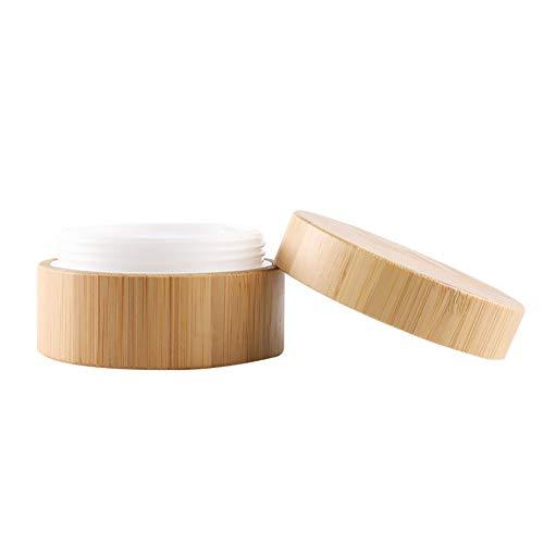 Qinlee Bambus Cremeflasche Cremedose Box Nachfüllbare Emulsion Essenzen Gesichtscreme Perfekt für...