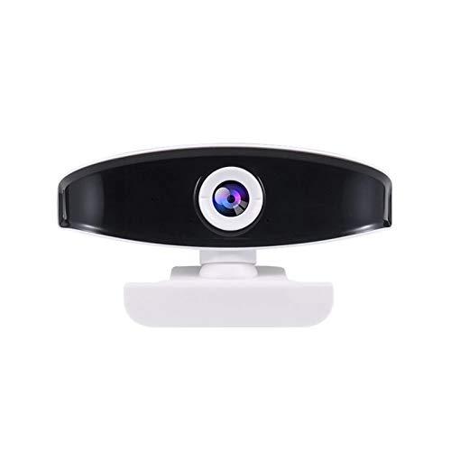 Cámara Web HD Streaming Webcam de 1080p Webcam Streaming HD con tapón de micrófono y Juego Cámara Web de la computadora (Color : White, Size : 1080P)