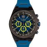 Otumm Big Date Black Bisel Azul BDBL45009 - Reloj de pulsera unisex