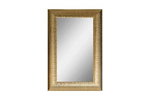 CVC- Specchio da parete, con cornice dorata, dettaglio righe. Dimensione 60x120 cm. Made in Italy
