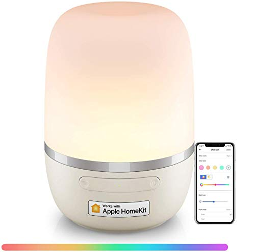Meross LED Night Light Compatible with HomeKit Alexa Google Assistant SmartThings RGB Dimmable LED Mood Light Voice Control