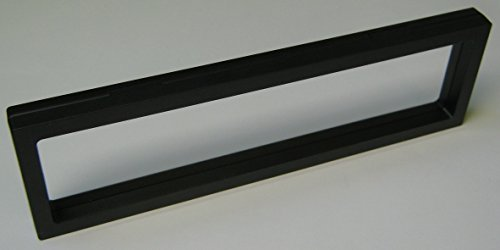 3 Stück Kronenberg24 3D Schweberahmen Objektrahmen schwarz 300x90x20mm für Kleinteile