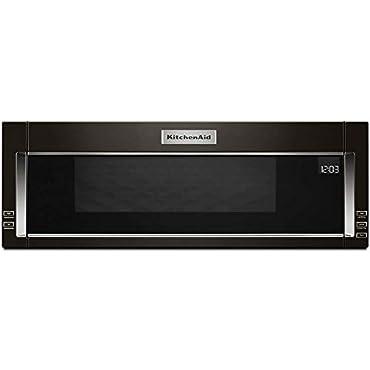 KitchenAid KMLS311HBS 1.1 Cu. Ft. Black Stainless Over-The-Range Microwave