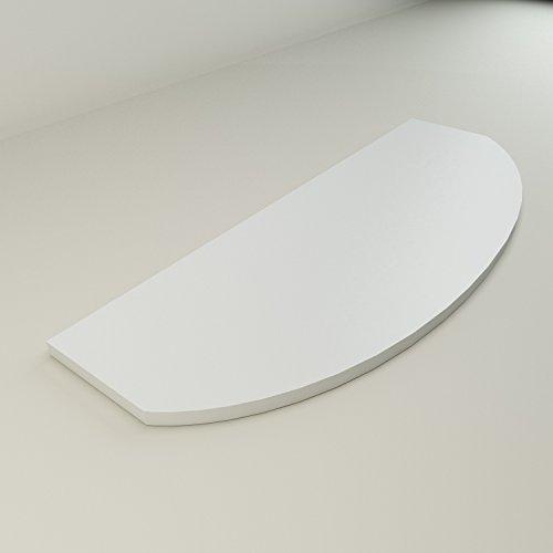 Duraline Étagère ronde finition blanche 800 x 300 x 18