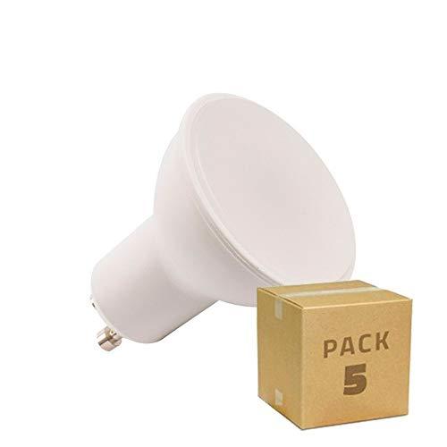 LEDKIA LIGHTING Pack Bombillas LED GU10 S11 120º 6W (equivalente a Halógeno 50W) (5 un) Blanco Frío 6500K