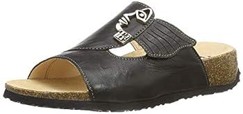 Think Womens Mizzi Mules Black Schwarz  SZ/K794-02  Size  41 EU  7.5 Damen UK