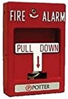 Potter RMS-2T Die Cast Metal Red Emergency Manual DPST Single Action Fire Alarm Pull Station (1)
