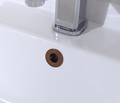 Copper Sink Overflow Cover,Sink Drain Cap Replacement,Overflow Ring for Bathroom Kitchen Vanity Artistic Basin Sink Hole Drain Covers Tidy Insert Spares (Rose Gold)