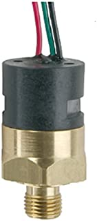 Gems PS41-30-4MNB-C-FL18 Series PS41 Economical Miniature Pressure Switch, SPDT Circuit, 25-100 psi Range, 1/4