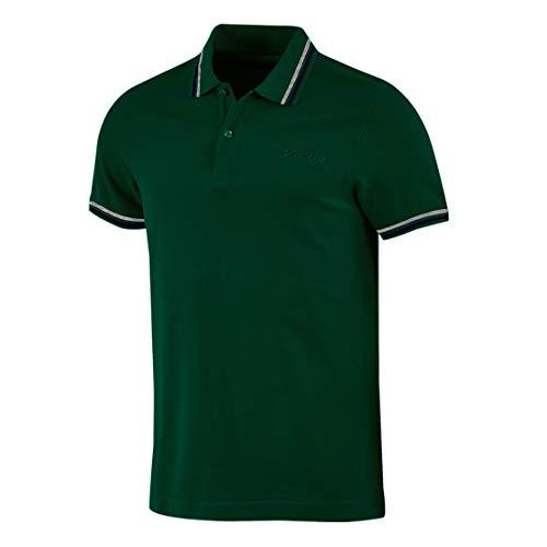 Lotto PJ - Polo de hombre de piqué de algodón para playa, tenis, barco, fútbol, deporte, L73 1su Christmas Green/Navy Blue L