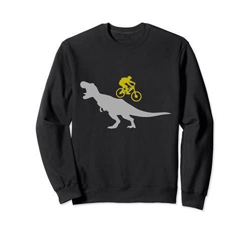 Mountainbike T-Rex Dinosaurier für Downhill Mountainbiker Sweatshirt