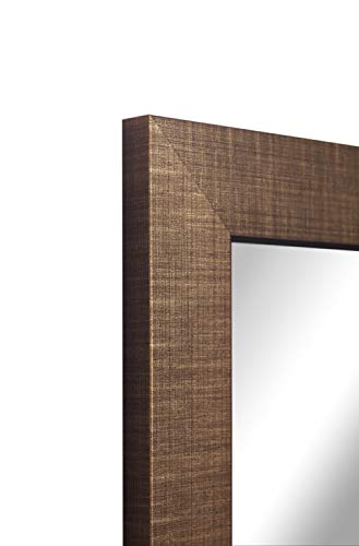 Framed Mirror TV with Samsung Q60 4K Ultra HD HDR Smart LED TV - Crosshatch Frame (55 Inch, Gold)