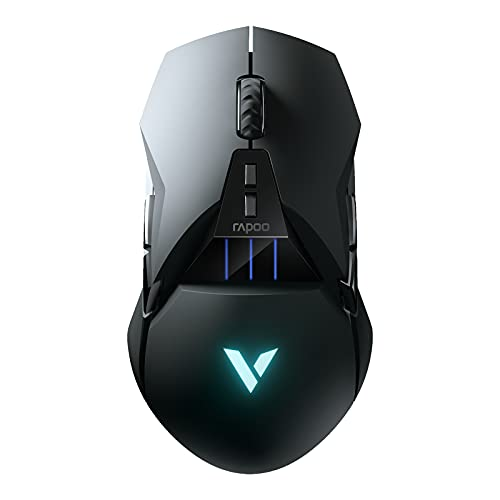 RAPOO VT950C Gaming Wired/Wireless Mouse, RGB Ergonomic Game Computer Mice, 16,000 DPI - Rapid Charging Battery - Programmable 11 Buttons