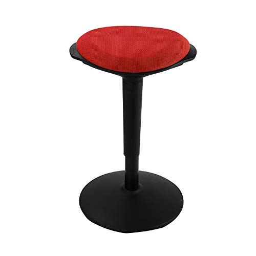 FLEXISPOT Wobble Stool Chair Sit-Stand Adjustable Height Ergonomic Active Learning Stool Balance Chair Padded Office Desk Chair (Red)