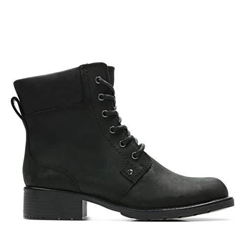 Clarks Orinoco Spice - Stivaletti Donna, Nero (Black Leather), 38 EU