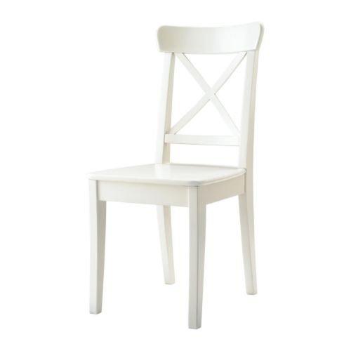 Ikea INGOLF Stuhl in weiß; aus Massivholz