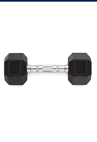 Weider Rubber Hex Dumbbell - 10 LB