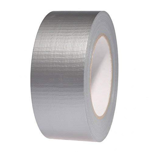Premium Silber Gewebeband - Duct Tape, 48 mm x 50 m - (5,1 cm) Gaffer Tape - hochwertige Rolle von gocableties