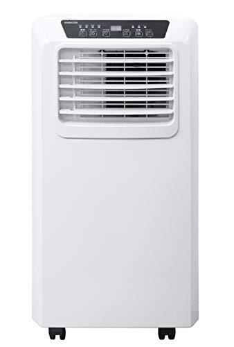 [山善] 移動式 エアコン スポットクーラー ノンドレン方式 (冷風 / 除湿 / 送風) 除湿量25L (木造33畳 / 鉄筋60畳まで) 風量調節2段階 切タイマー最大24時間 リモコン付き コンパクト ホワイト YEC-K22(W) [メーカー保証1年]