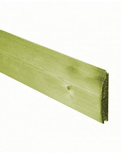 Total Sheds T&G Pressure Treated loglap Cladding Ex 125mm x 22mm Various Sizes 2.4m 3.0m 3.6m 4.2m 4.8m (Wood, 2.4m (8ft))