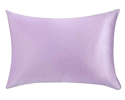 GHP - Set di 2 federe per cuscino, 100% pura seta di gelso, morbide e accoglienti, anti rughe e antimacchia, dimensioni standard (51 x 76 cm)